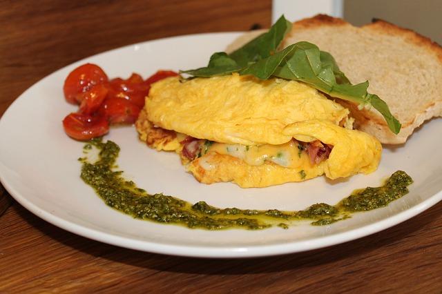 Omelette aux piments doux des Landes